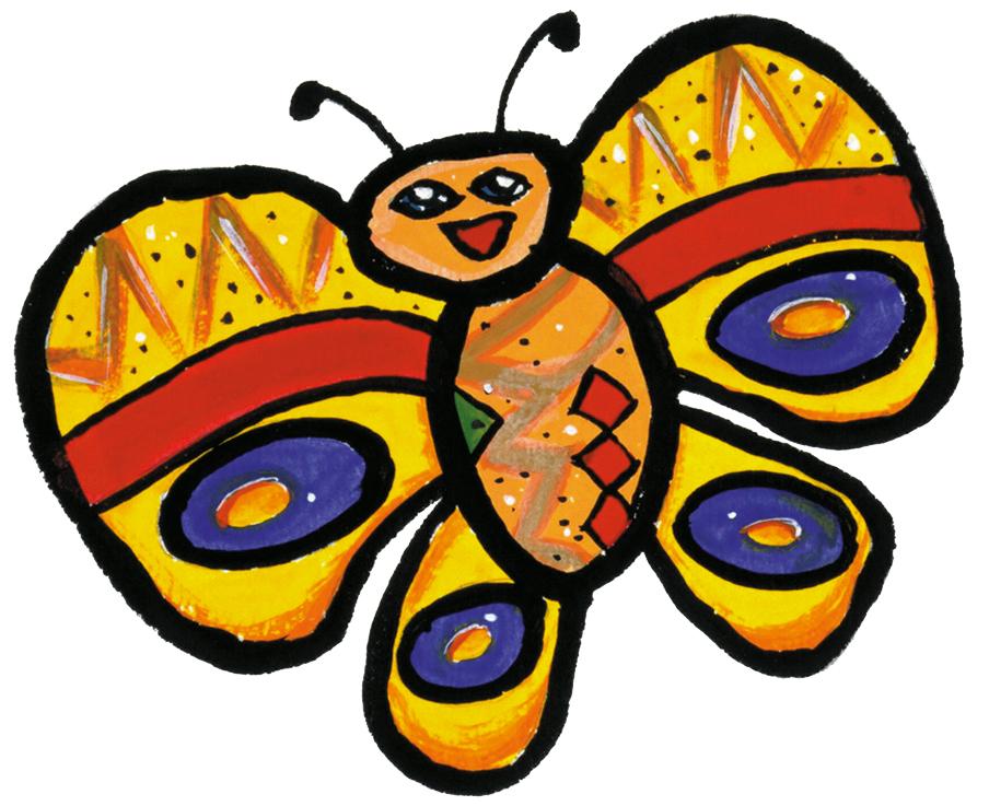 Vlinder 1 Geel